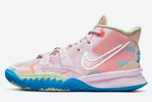 Cheap Nike Kyrie 7 GS 1 World 1 People CT4080-600