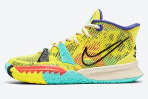 Cheap Nike Kyrie 7 GS 1 World 1 People Electric Yellow CT4080-700