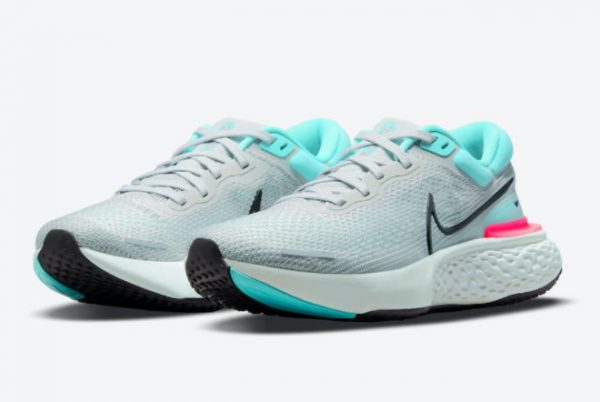 Cheap Nike ZoomX Invincible Run Flyknit South Beach Grey Fog 2021 For Sale CT2228-003-1