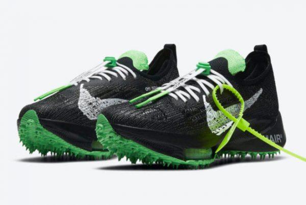 Cheap Off-White x Nike Air Zoom Tempo NEXT% Black White-Scream Green 2021 For Sale CV0697-001-2
