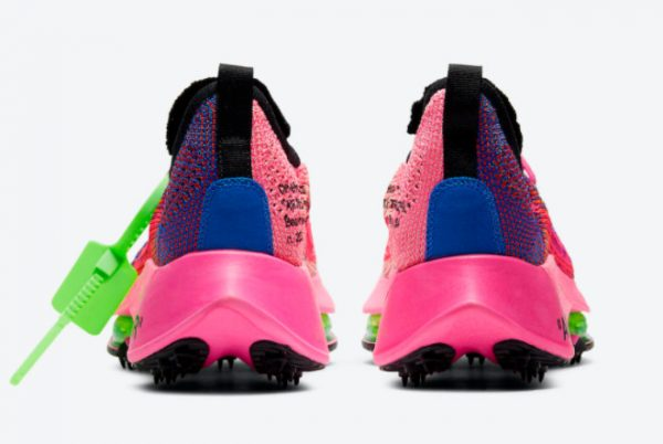 Cheap Off-White x Nike Air Zoom Tempo NEXT% Racer Blue Black-Pink Glow-White 2021 For Sale CV0697-400-3
