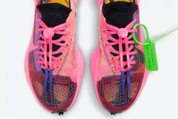 Cheap Off-White x Nike Air Zoom Tempo NEXT% Racer Blue Black-Pink Glow-White 2021 For Sale CV0697-400-4