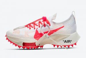 Cheap Off-White x Nike Air Zoom Tempo NEXT% White Black-Solar Red 2021 For Sale CV0697-100