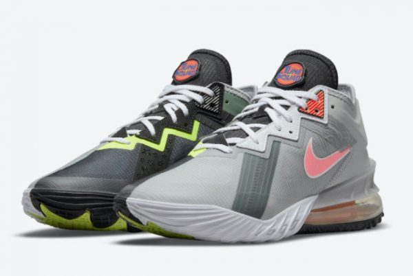 Cheap Space Jam x Nike LeBron 18 Low Bugs Bunny x Marvin The Martian 2021 For Sale CV7562-005-2