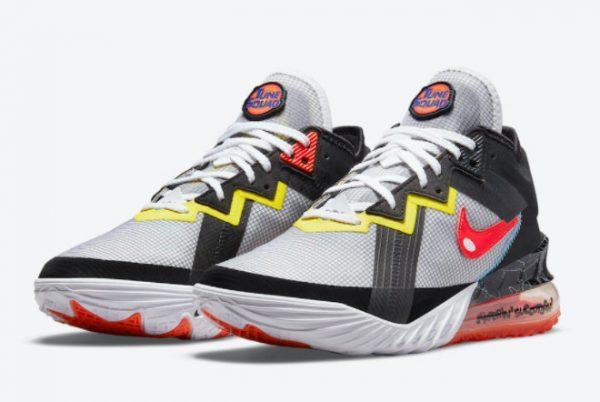 Cheap Space Jam x Nike LeBron 18 Low Sylvester x Tweety 2021 For Sale CV7562-103-2