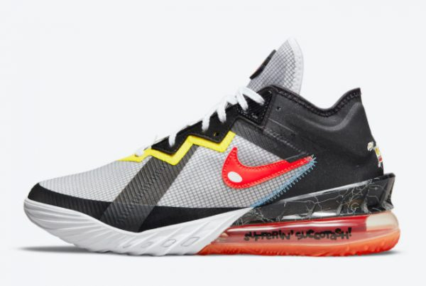 Cheap Space Jam x Nike LeBron 18 Low Sylvester x Tweety 2021 For Sale CV7562-103