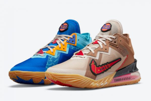 Cheap Xbox x Nike LeBron 18 Low Wile E. x Roadrunner 2021 For Sale DO7172-900-2