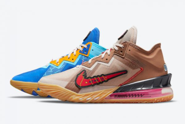 Cheap Xbox x Nike LeBron 18 Low Wile E. x Roadrunner 2021 For Sale DO7172-900
