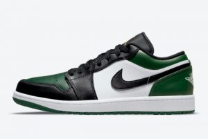 Latest Air Jordan 1 Low Green Toe 2021 For Sale 553558-371