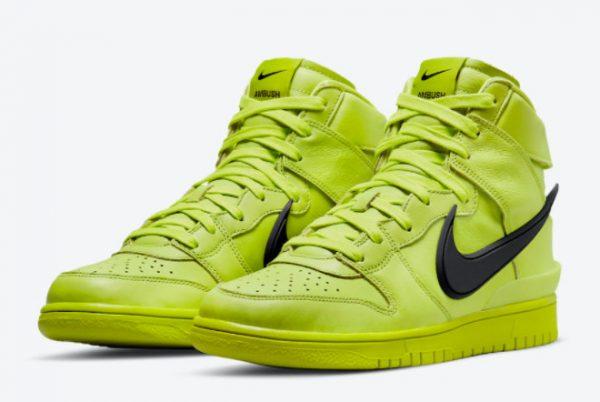 Latest Ambush x Nike Dunk High Flash Lime Atomic Green 2021 For Sale CU7544-300-2