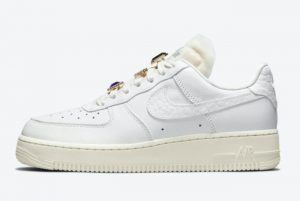 Latest Nike Air Force 1 Low Bling Summit White Sea Glass 2021 For Sale DN5463-100