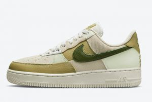 Latest Nike Air Force 1 Low Rough Green Light Bone Rough Green-Olive Aura 2021 For Sale DO6717-001