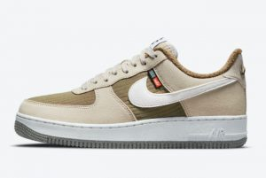 Latest Nike Air Force 1 Low Toasty Rattan Sail-Brown Kelp-Sail 2021 For Sale DC8871-200