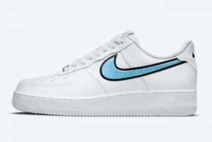 Latest Nike Air Force 1 Low White Iridescent Swooshes 2021 For Sale DN4925-100