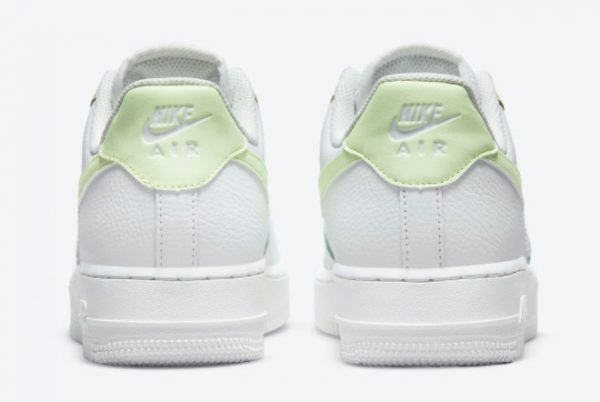 Latest Nike Air Force 1 Low WMNS White Barely Volt 2021 For Sale 315115-166-2