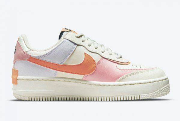 Latest Nike Air Force 1 Shadow Pink Glaze Sail Pink Glaze-Orange Chalk 2021 For Sale CI0919-111-1