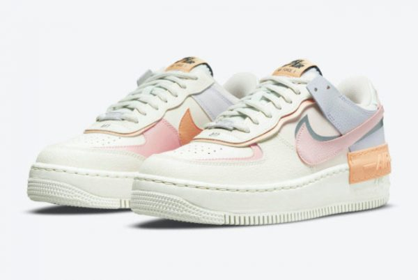 Latest Nike Air Force 1 Shadow Pink Glaze Sail Pink Glaze-Orange Chalk 2021 For Sale CI0919-111-2