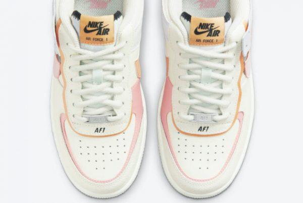 Latest Nike Air Force 1 Shadow Pink Glaze Sail Pink Glaze-Orange Chalk 2021 For Sale CI0919-111-4