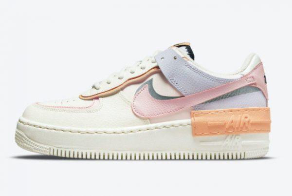 Latest Nike Air Force 1 Shadow Pink Glaze Sail Pink Glaze-Orange Chalk 2021 For Sale CI0919-111
