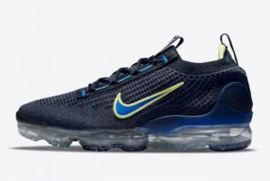 Latest Nike Air VaporMax 2021 Navy Volt For Sale DH4085-400