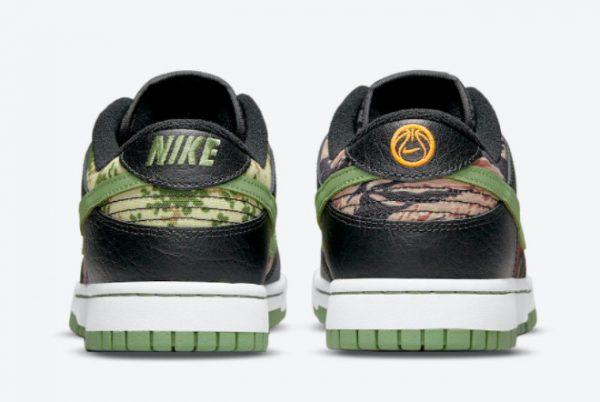 Latest Nike Dunk Low SE Crazy Camo Black Oil Green-White-Total Orange 2021 For Sale DH0957-001 -3