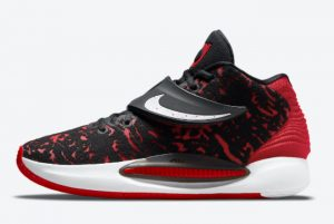 Latest Nike KD 14 Bred Black Red-White 2021 For Sale CW3935-006