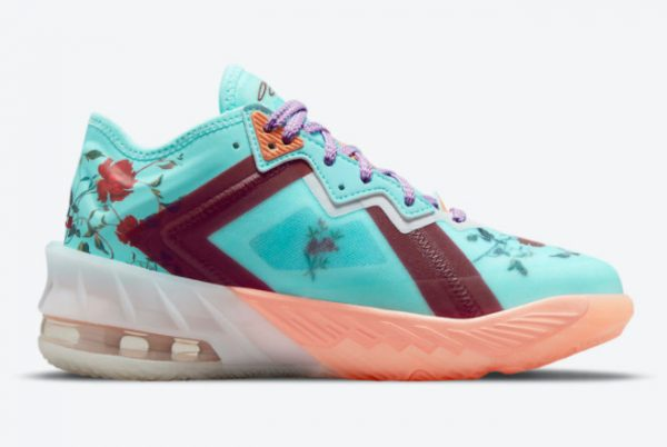 Latest Nike LeBron 18 Low GS Floral 2021 For Sale DN4177-400 -1