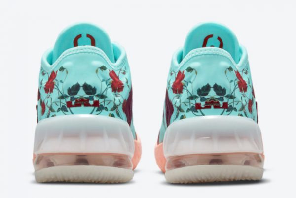 Latest Nike LeBron 18 Low GS Floral 2021 For Sale DN4177-400 -3