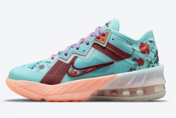Latest Nike LeBron 18 Low GS Floral 2021 For Sale DN4177-400