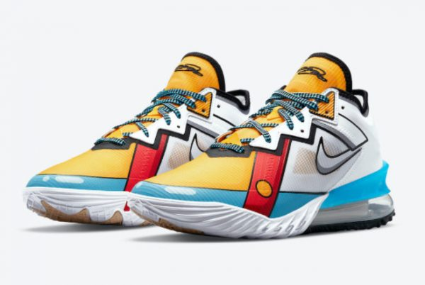 Latest Nike LeBron 18 Low Stewie Griffin 2021 For Sale CV7564-104-2