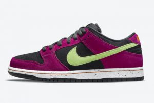 Latest Nike SB Dunk Low Red Plum Red Plum Black-Taxi-Citron 2021 For Sale BQ6817-501