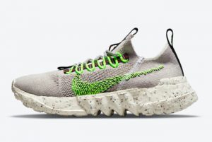 Latest Nike Space Hippie 01 Vast Grey Vast Grey Electric Green-Black-White 2021 For Sale DJ3056-004