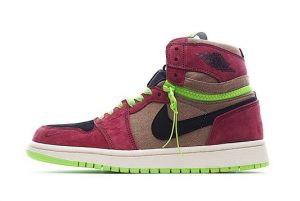 New Air Jordan 1 High Switch Red Brown Green Black For Sale CW6576-600