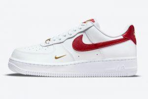 New Nike Air Force 1 07 Essential White/Gym Red For Sale CZ0270-104