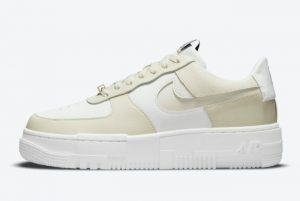 New Nike Air Force 1 Pixel Cashmere Cashmere/Black-Sail-White 2021 For Sale CK6649-702
