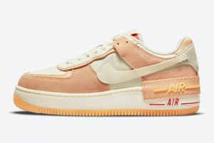New Nike Air Force 1 Shadow Sisterhood Cashmere Orange For Sale DM8157-700