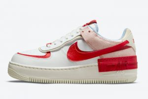 New Nike Air Force 1 Shadow White Red-Light Blue 2021 For Sale CI0919-108