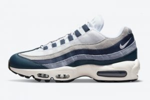 New Nike Air Max 95 Navy White Grey For Sale DC9412-400