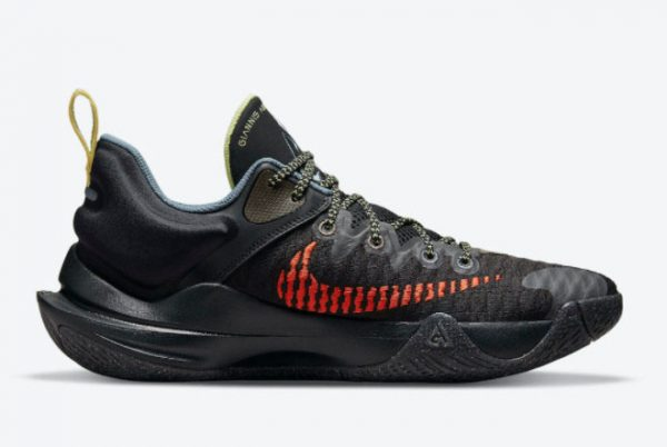 New Nike Giannis Immortality Black/Crimson-Pale Yellow-Blue For Sale DH4470-001-1