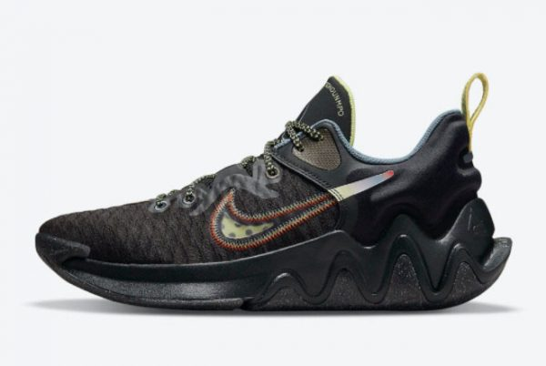 New Nike Giannis Immortality Black/Crimson-Pale Yellow-Blue For Sale DH4470-001