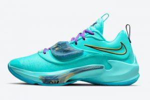 New Nike Zoom Freak 3 Aqua Giannis 2021 For Sale DA0695-400