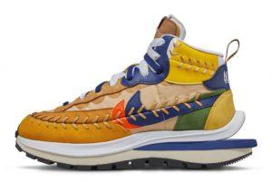 New Sacai x Jean Paul Gaultier x Nike VaporWaffle Sesame/Multi-Color 2021 For Sale DH9186-200