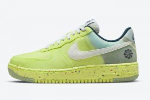 Nike Air Force 1 Crater Lemon Twist Light Lemon Twist White-Armory Navy 2021 For Sale DH2521-700