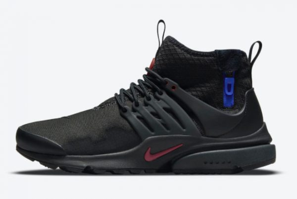 Nike Air Presto Mid Utility Darth Vader Black Team Red-Anthracite-Racer Blue 2021 For Sale DC8751-001