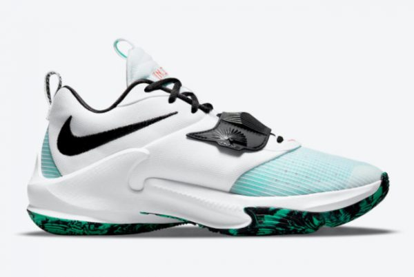 Nike Zoom Freak 3 White Teal Blue-Black 2021 For Sale DA0695-101-1