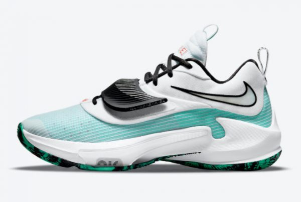 Nike Zoom Freak 3 White Teal Blue-Black 2021 For Sale DA0695-101
