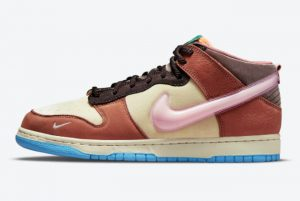 Social Status x Nike Dunk Mid Canvas Mid Soft Pink-Burnt Brown 2021 For Sale DJ1173-700
