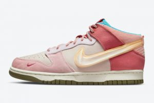 Social Status x Nike Dunk Mid Light Soft Dross Coconut Milk-Pink Glaze For Sale DJ1173-600