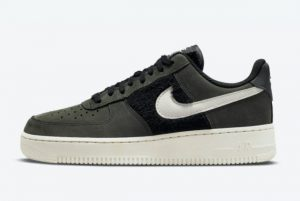 Cheap Nike Air Force 1 Low Black/Light Bone 2021 For Sale DO6714-001