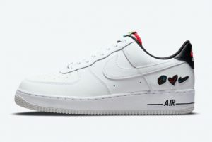 Cheap Nike Air Force 1 Low Peace Admire Swoosh White/White-University Red 2021 For Sale DM8148-100